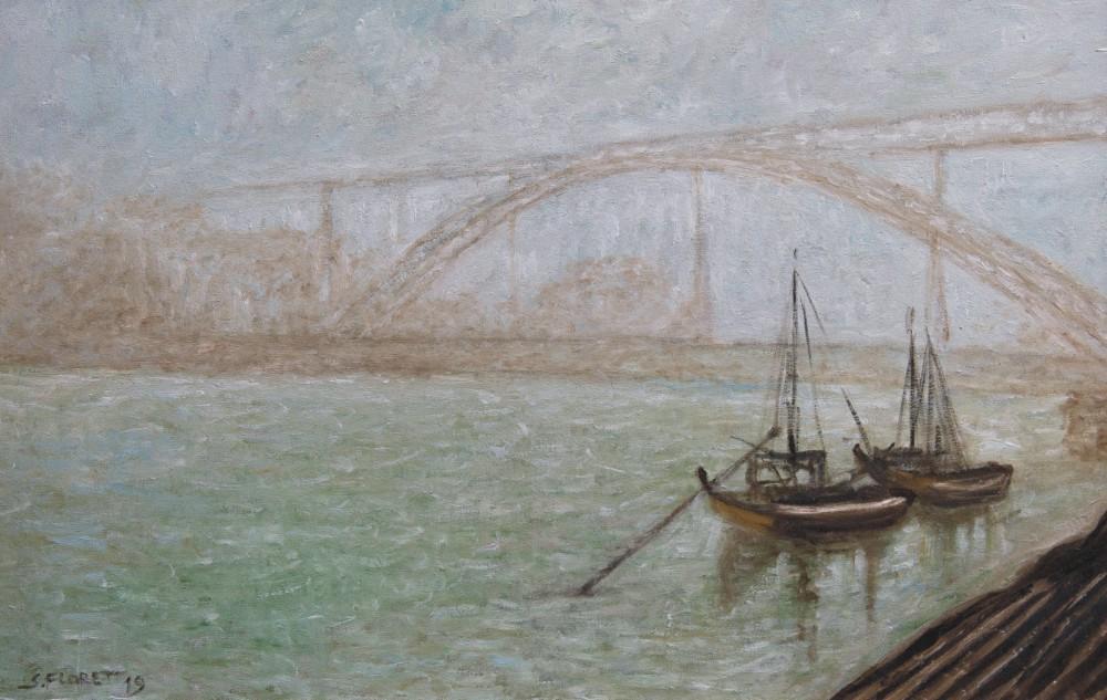 Sávio Floret. Ponte Luis I - Cid. do Porto - Portugal - OST 37X57 cm - R$ 6.800,00