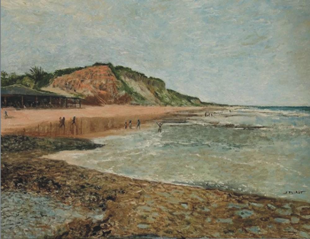 Sávio Floret. Praia do Tororão - Prado-BA - OST 70X90 cm - R$ 18.800,00