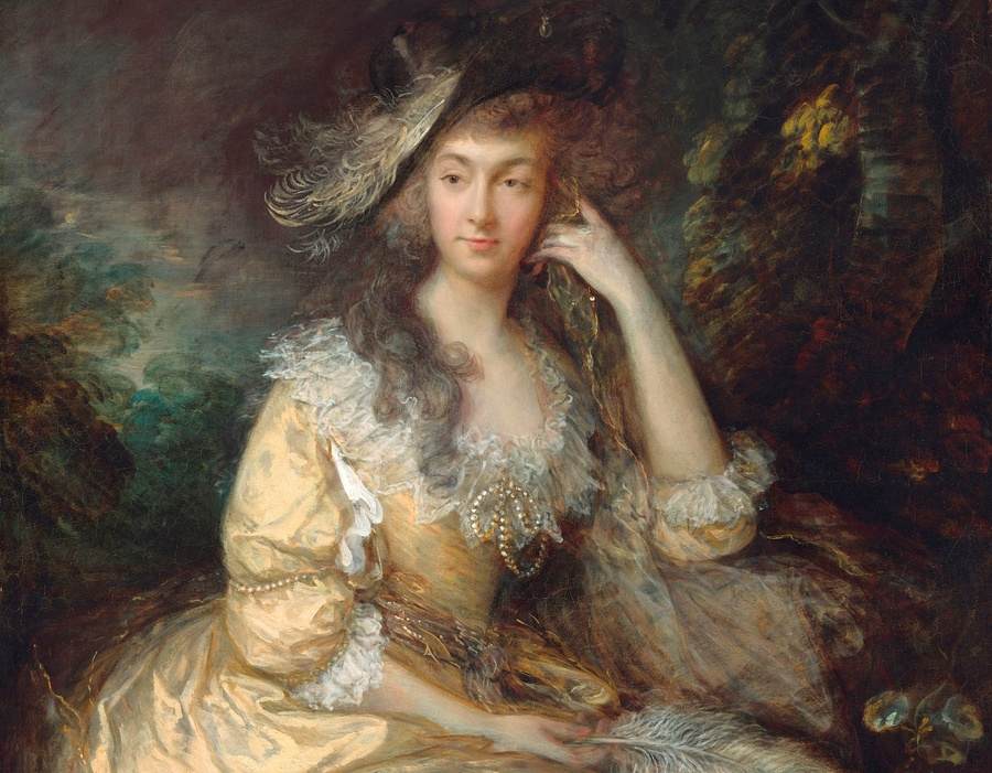 Thomas GAINSBOROUGH (1727-1788) DETALHE: Frances Susanna, Lady de Dunstanville, ca. 1786. Óleo sobre tela, 127.2×101. National Gallery of Art, Washington, EUA. Disponível em: https://www.nga.gov/collection/art-object-page.166448.html Acesso em: 14 mai. 2020.