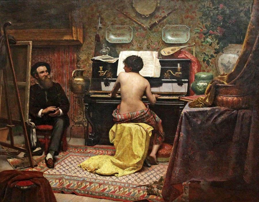 FAMA Museu podcast; Model's rest, 1885, Almeida Júnior | Foto de Hugo Curti