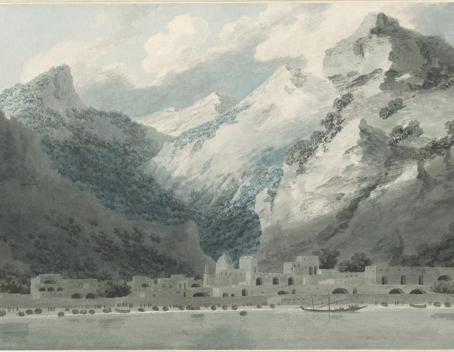John Robert Cozens - Cetara no Golfo de Salerno, 1790