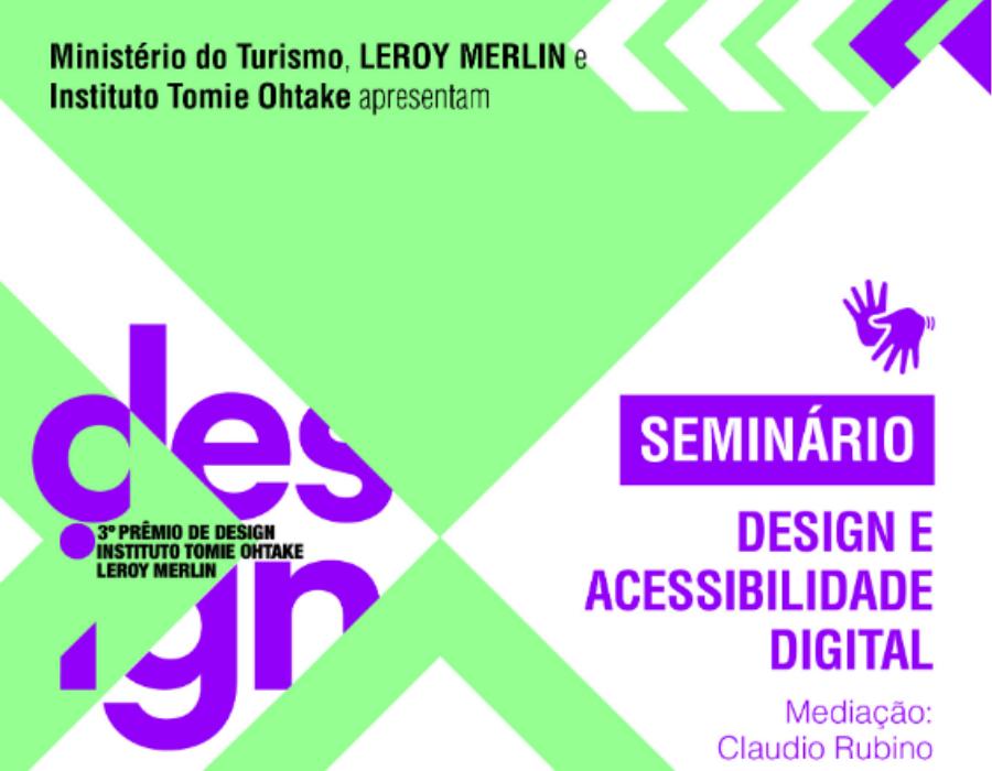Seminário Design e acessibilidade digital