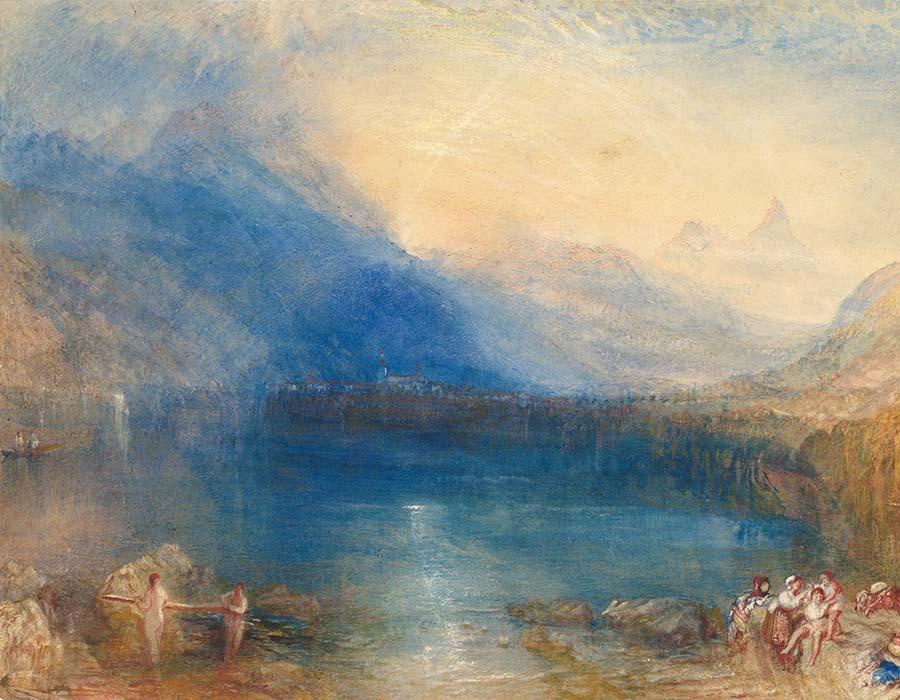 Joseph Mallord William TURNER (1775‑1851) DETALHE- O Lago de Zug, 1843
