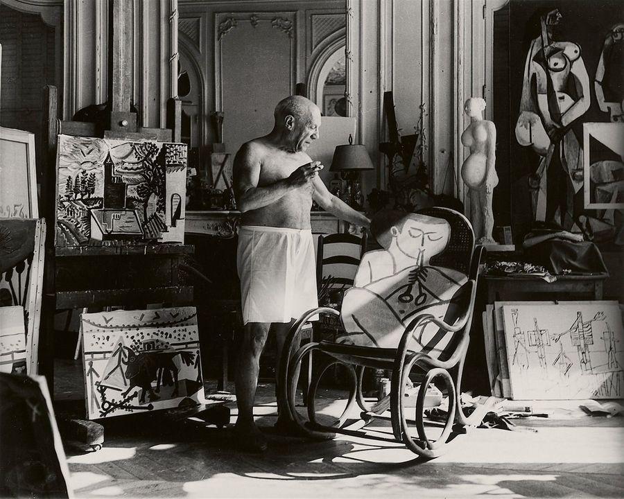 Atelier de Picasso, Cannes. Créditos: André Villers, 1955