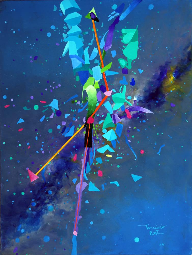Tarcisio Costa. Constelação de Áries 2020 - Acrílico sobre tela 80 x 60 cm
