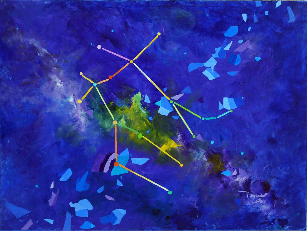 Tarcisio Costa. Constelação de Gemeos 2020 - Acrílico sobre tela - 60 x 80 cm
