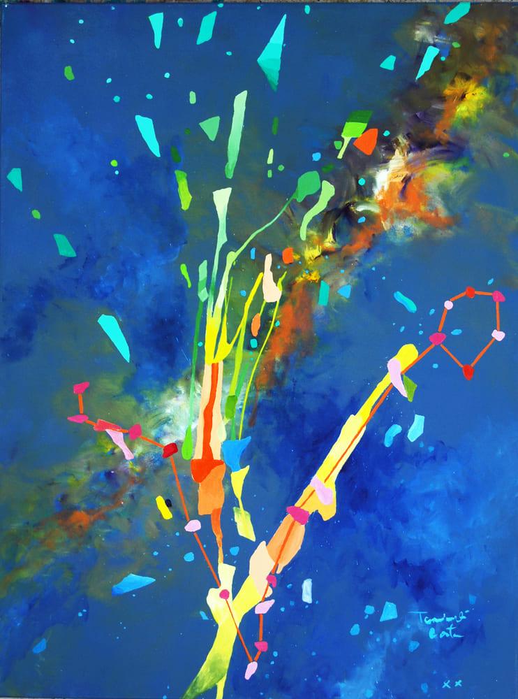 Tarcisio Costa. Constelação de Peixes 2020 - Acrílico sobre tela 80 x 60 cm