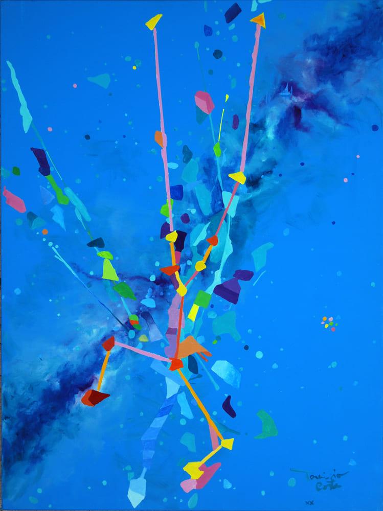 Tarcisio Costa. Constelação de Touro 2020 - Acrílico sobre tela 80 x 60 cm