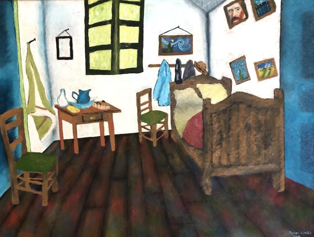 Dymon Cézare - Quarto em Arles, Vincent Van Gogh (Releitura)